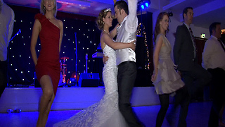 Bride And Groom Engage In Epic Wedding Dance With The Riverdance Troupe