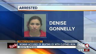 Woman Accused of Beating Ex with Clothes Iron - Video