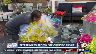 Preparing to reopen for curbside pickup