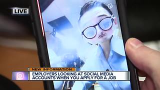 Employers looking at social media accounts when you apply for a job - Video
