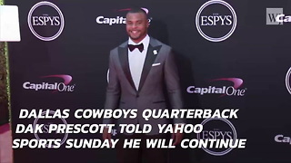 Dak Prescott To Stand During National Anthem - Video