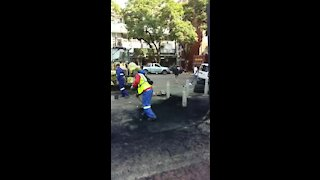 WATCH: city workers clean up (bPb)