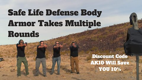 Safe Life Defense Body Armor Takes Multiple Rounds