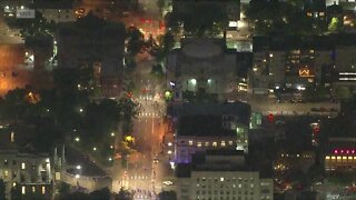 RAW: Denver police work to clear protesters from downtown