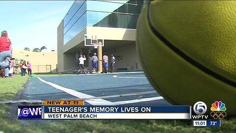 Basketball court dedicated to teen killed in hit-and-run crash