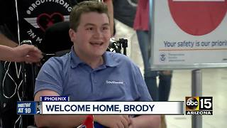 Brody Burnell returns home from the hospital months after plane crash - Video