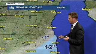 Chance of lake effect showers late