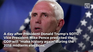 After SOTU, Pence Makes Bold Predictions About Midterms - Video