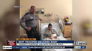 NHP trooper delivers baby girl outside hospital - Video