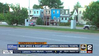 More speed and red light cameras activated in Baltimore