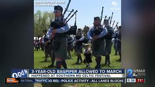 3-year-old bagpiper's dream comes after marching in South Maryland Celtic Festival