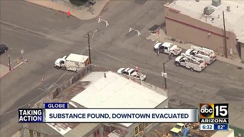 Downtown Globe evacuated after dangerous acidic substance found