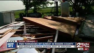 Two tornadoes hit early Sunday in Rogers County - Video