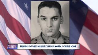 Remains of WNY Marine killed in Korea coming home - Video