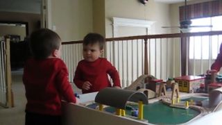 Baby Twins Fighting Over Toys - Video