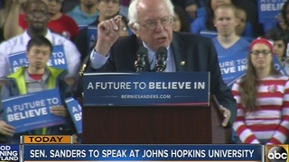 Senator Bernie Sanders to speak at Johns Hopkins University - Video