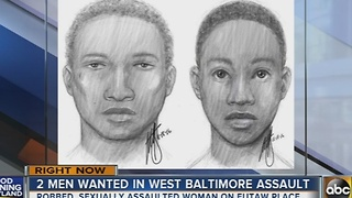 2 men wanted in Eutaw Place sexual assault