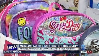 Save on supplies with tax-free week & back-to-school sales - Video