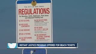 San Diego Police instant justice program offered for beach tickets - Video