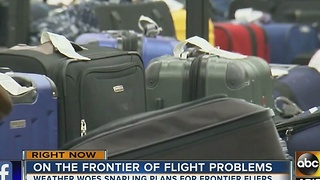 Winter weather leads to travel frustration with Frontier Airlines - Video