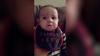 Baby Boy Doesn't Like It When His Mom Sings - Video