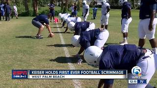 Keiser holds first ever football scrimmage