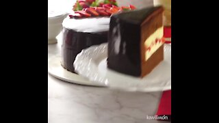 Chocolate Cake Filled with Pastry Cream