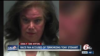 Woman charged with 'terroristic mischief' for stalking Tony Stewart & his family - Video