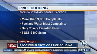 Florida Attorney General receives more than 9,000 price gouging complaints