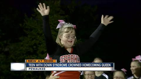 Special needs students honored as Pewaukee High School homecoming queen