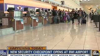 New security checkpoint opens at BWI Airport - Video