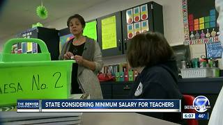 Colorado considering minimum salary for teachers