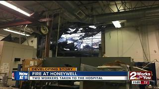 Honeywell Aero-Space damaged after morning fire - Video
