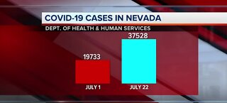 COVID-19 cases in Nevada   July 22
