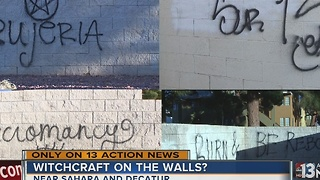 Graffiti referencing dark magic appears in valley neighborhood - Video