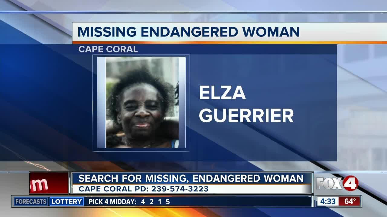 Missing endangered woman reported in Cape Coral