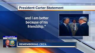 President Carter's statement on Cecil Andrus passing - Video