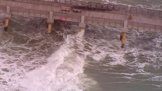 Lake Worth Pier closed Wednesday due to high waves - Video