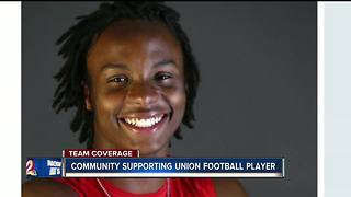 Community comes together to support Union football player after traumatic brain injury - Video