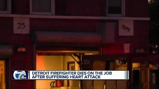 Colleagues remember Detroit firefighter who died of heart attack