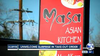 Denver woman says her latest takeout order was littered with rodent droppings - Video