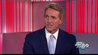 Flake says GOP has let Trump divert from conservative ideals
