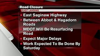 Work on East Saginaw Highway will pick back up