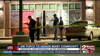 Air Force honoring Bixby community after last week's bombing - Video