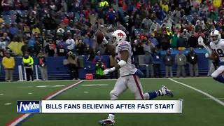 Bills fans excited after fast start - Video