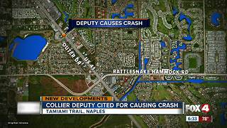 Collier County Sheriff's Deputy cited in crash - Video