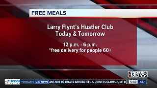 Free meals from Larry Flynt's Hustler Club