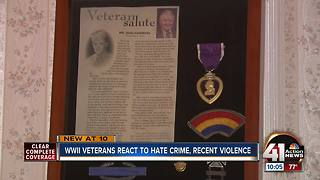 WWII veterans react to hate crime, recent violence - Video
