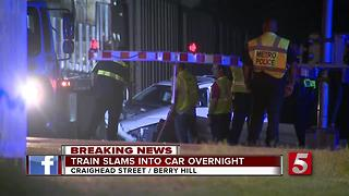 Train Hits Car In Berry Hill - Video