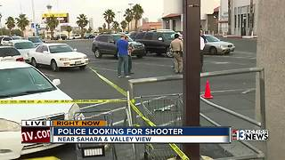 One man shot in supermarket parking lot - Video